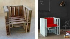 Recycled pallet arm chair
