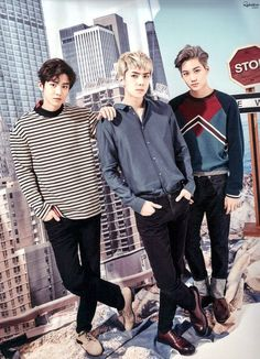 Chanyeol, Sehun e Kai Chanyeol Baekhyun, Exo Kai, Park Chanyeol, K Pop, Kai Monster, Exo 2017, Exo Official, Exo Korean, Wattpad