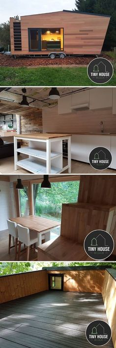 A sleek, modern home from Tiny House Belgium and available for rent at The Pop-Up Hotel!