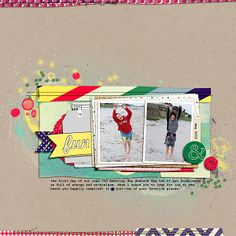 Scrapbook Layouts Made With a Rectangular Foundation on a Square Canvas | Celeste Smith | Get It Scrapped