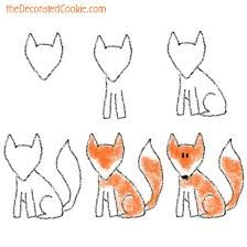 Image result for how to draw fox
