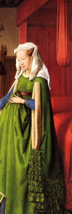 Jan van Eyck, Giovanni Arnolfini and His Wife Giovanna Cenami (detail)