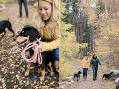 How to include your dog in your photos | Ideas to include your pet in engagement photos | Fall engagement session | Engagement photography with dogs in Laramie, WY | Megan Lee photography | Wyoming photographer