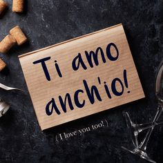 Frase della settimana / Phrase of the week: To amo anch'io! (I love you too!) To find out more about this phrase and hear the pronunciation, visit our complete article on Daily Italian Words. #italian #italiano #italianlanguage #italianlessons Italian Grammar, Italian Vocabulary, Italian Phrases, Italian Words, Italian Quotes, Italian Language, Spanish Language, Korean Language, Japanese Language