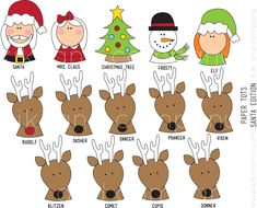 Free Christmas Printable Pack. My kids will LOVE these! #christmas