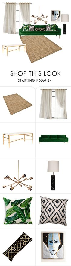 """green sofa"" by m-a-s-1355 on Polyvore featuring interior, interiors, interior design, home, home decor, interior decorating, Safavieh, ModShop, T.H. Robsjohn-Gibbings and Jagger"