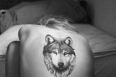 Nice Wolf Tattoo   KYSA #tattoo #ink #women