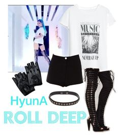 """HyunA - ROLL DEEP"" by minyxxngi ❤ liked on Polyvore featuring MANGO and Jeffrey Campbell"