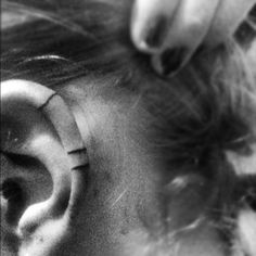 lines on the ear tattoo