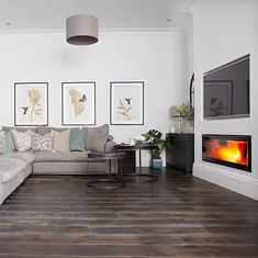 New living room wood burner lounges ideas Luxury Living Room, Living Room Green, Living Room White, Trendy Living Rooms, Living Room Grey, Couches Living Room, Living Room Wood Floor, Brown Living Room, Living Room Tv Wall