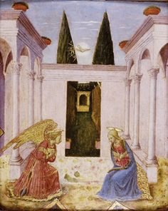 follower of Fra Angelico (c.1395/1400 - 1455), The Annunciation (Click for larger version of this image)