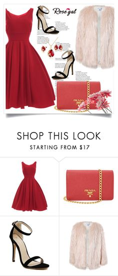 """Rosegal!"" by amrafashion ❤ liked on Polyvore featuring Prada, Sans Souci, love, dress, fashionset, rosegal and fabulously"