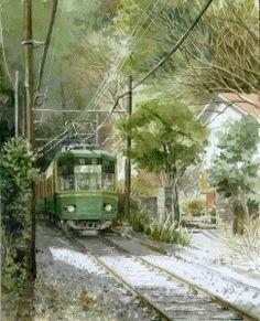 "https://www.facebook.com/MiaFeigelson ""Kamakura in late autumn Japan"" (2011) By Takashi Akasaka, from Yokohama-shi, Kanagawa, Japan - watercolor - http://www5f.biglobe.ne.jp/~aka6/1etop.html https://www.facebook.com/takashi.aka"
