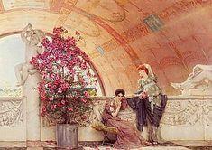 Sir Lawrence Alma-Tadema - Unconscious Rivals, 1893