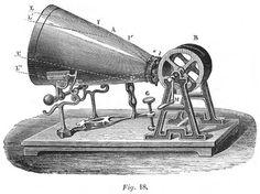 L'appareil présenté à la Société d'Encouragement, en 1857, a reçu le nom de phonautographe.
