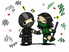 Chibi Smoke and Jade by zetsumeininja Mortal Kombat Memes, Jade Mortal Kombat, Mortal Kombat Art, Guardian Of The Moon, Street Fighter Characters, Snoopy Love, The Evil Within, Fighting Games, Resident Evil