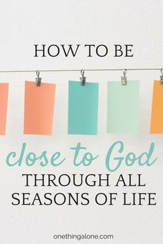 Some years we have more time to devote to Bible study and prayer than others, but busy seasons should not keep us from experiencing closenes with God ALL the time. Find out how...