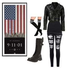 """""""September 11, 2015 We Remembered"""" by whitewolf17 ❤ liked on Polyvore featuring Glamorous, James Perse, Volatile and VIPARO"""