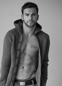 Thick hooded sweater and Diesel underwear