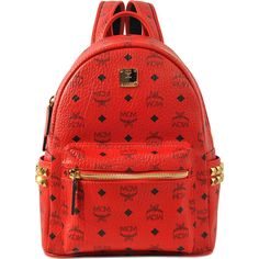 Mcm Stark Small Backpack 720 Liked On Polyvore Featuring Bags Backpacks