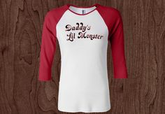 Daddy's Lil Monster-Womens baseball Shirt-Suicide Squad-Harley Quinn-dc  #vog #GraphicTee