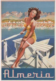 Almeria. Spain. Travel poster