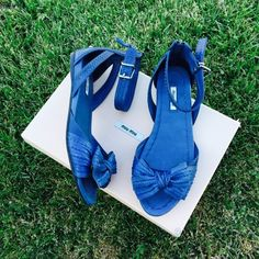 {MIU MIU} Denim Washed Sandals Completely sold out. Super cute. Brand new in box, never been worn. Size 39EUR, fit me as a 8.5. The 2nd is the truest color. Please know/be familiar with your own size. ❗️Price is firm, even when bundled❗️  ❌ No Trades/ No PayPal  ❌ No Lowballing  ✅ Bundle Discounts ✅ Ship Same or Next Day  % Authentic Miu Miu Shoes Sandals