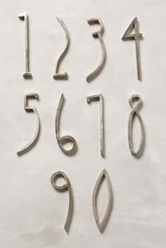 Anthropologie Hand-Welded House Number