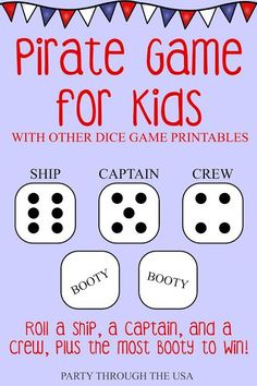 Travel Dice Games for Kids // Party Through the USA // games in an Altoid Tin //. - Screen Free Travel Activities for Kids - Travel Dice Games for Kids // Party Through the USA // games in an Altoid Tin // portable and washa - Pirate Games For Kids, Games To Play With Kids, Family Fun Games, Card Games For Kids, Free Games For Kids, Kids Party Games, Games For Teens, Family Game Night, All Family