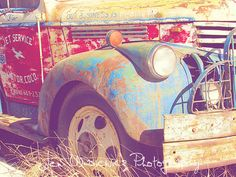 Hey, I found this really awesome Etsy listing at https://www.etsy.com/listing/28331721/rusty-old-colorful-tow-truck-photography