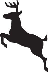 jumping deer silhouette 42