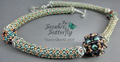 Cosmos Beaded Bead Necklace Tutorial by beadingbutterflyshop