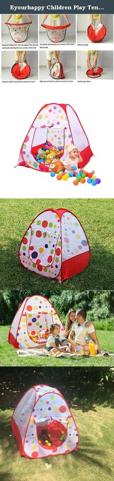 Eyourhappy Children Play Tent Indoor and Outdoor Easy Folding Polka Dot Ball Pit Play House Baby Beach Tent with Zippered Storage Bag for Kids. Specification: Age Range:1-5 years old above Size:95cmx82cmx82cm/37*32*32inch Single weight:0.5 kg Material: Polyester Taffeta + Mesh Fabric + Steel Wire Frame Package includes: 1 x Play Tent (without balls) *About Shipment* Our warehouse is located in China and all the parcels are shipped by China post e-Packet. Normally it takes 7-15 business…