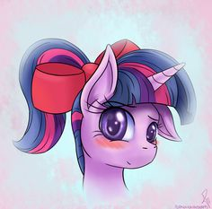 Twilight Sparkle ponytail bow.