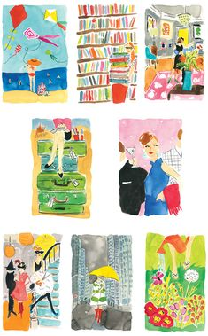 Bella Foster's illustrations for @kate spade new york