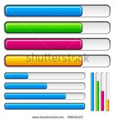 vector loading progress bars - stock vector
