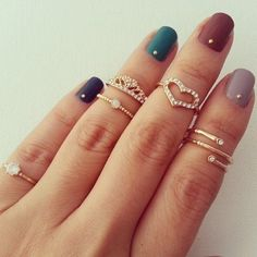 Acessórios do dia - Anéis delicados