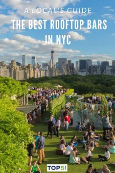 From a garden oasis high above the Upper East Side to high-end hotel bars to a refurbished hat factory in the Garment District, here's a roundup of the best rooftop bars in NYC. #top5 #topfive #nyc #travel #traveltips