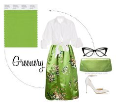 Pantone Greenery- I like this color green. I think the knot top would be cute in a bright color over a white shirt maybe-randi Lady Like, Color Of The Year 2017 Pantone, Pantone Color, Fashion Colours, Colorful Fashion, Verde Greenery, Pantone Greenery, Boho Chic, Looks Jeans