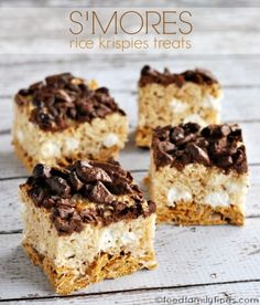 SMORES Rice Krispies Treats Recipe