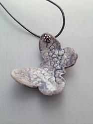 Lilac Ceramic Butterfly Necklace