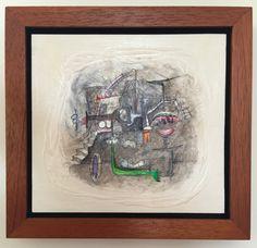 Título: El Guiño   Autor: Alvaro Galindo Vácha   Dimensiones: 21.5 x 21.5 cm   Técnica: Acrílico sobre madera   Año: 2012   Firmado: Frente y revés