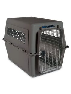 Pet crate for airline cargo travel with a large dog - Sky Kennel Giant pet crate by Petmate. IATA compliant pet crate for airline pet travel.