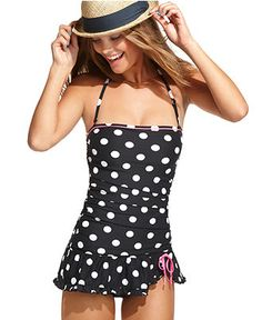 polka dot swim dress