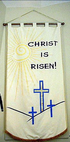 Easter banner for church.