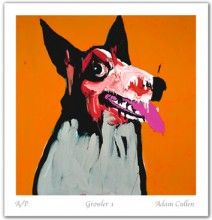 "Australian Art - Adam Cullen ""Growler I"" in Orange Australian Painters, Australian Artists, Modern Art, Contemporary Art, Grunge Art, Limited Edition Prints, Art World, A Team, Funny Dogs"
