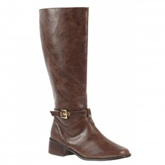 Low heel Boot shoe for women, a casual, everyday shoe in brown color by Annie at $79.00
