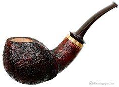 New Tobacco Pipes: Davide Iafisco Sandblasted Bent Apple (Gr 3) at Smokingpipes.com