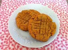 Three Ingredient Peanut Butter Cookies~       1 cup smooth or crunchy peanut butter      1 egg      1 cup sugar.      optional: 1 teaspoon vanilla        Preheat oven to 375 degrees. Mix all ingredients in a large mixing bowl.      Drop rounded tablespoonfuls onto a parchment lined cookie sheet. (use a large ice cream scoop, filled and leveled off each scoop. This produced 10 large cookies.)   Flatten with a fork and bake for 9-10 minutes or until just cooked through.