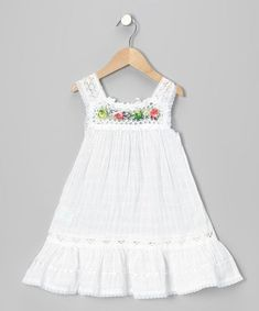 Another great find on Little Cotton Dress White Nathaly Ibiza Dress - Infant, Toddler & Girls by Little Cotton Dress Toddler Dress, Baby Dress, Infant Toddler, Toddler Girls, Infant Girls, Ruffle Dress, Little Dresses, Little Girl Dresses, Girls Fashion Clothes